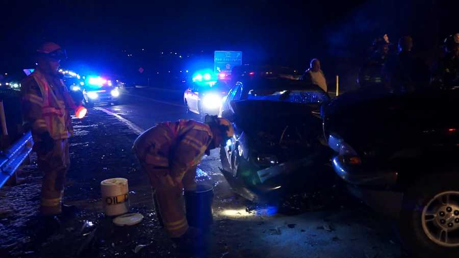 The crash happened at Route 56 and Route 366 in New Kensington.
