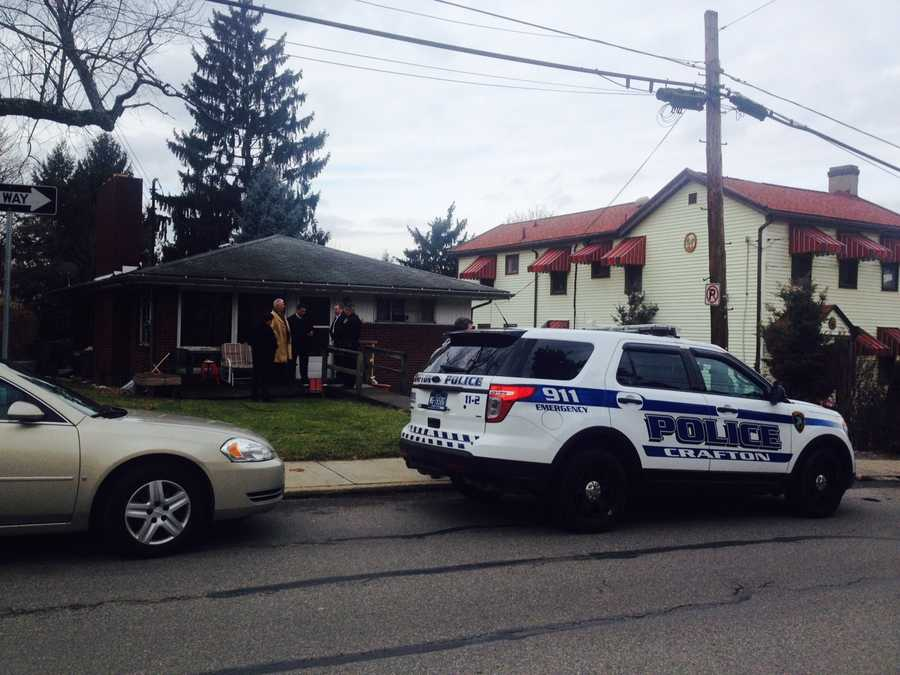 Allegheny County detectives are at the scene of an apparent murder-suicide in Crafton on Wednesday morning. Two bodies were found in a house on Dinsmore Avenue when police responded to a call at about 8:15 a.m.