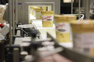 Yuengling's Ice Cream production line