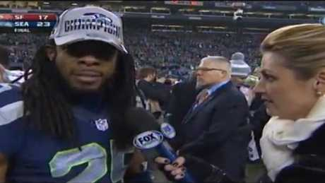 Erin Andrews interviews Richard Sherman.