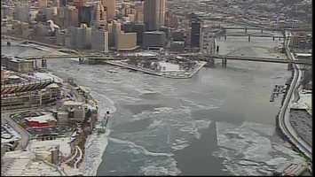 The arctic blast hitting the Pittsburgh region is putting a deep freeze on the Allegheny, Ohio and Monongahela rivers.