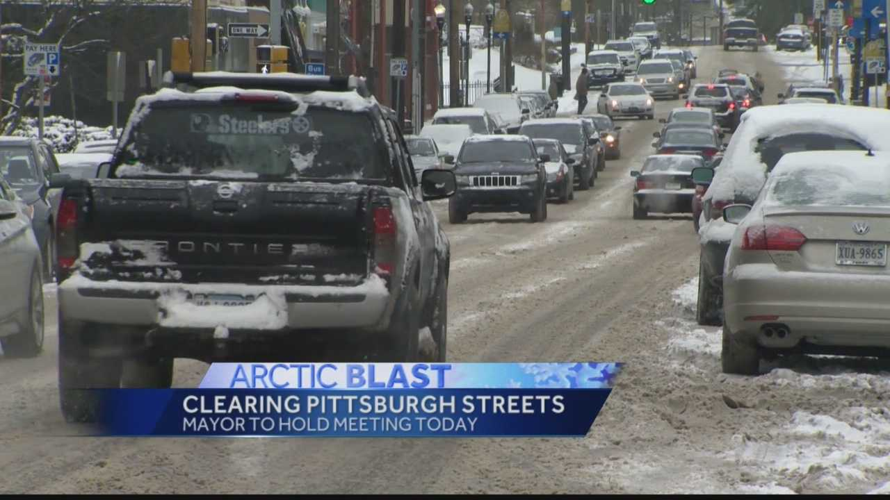 Mayor Peduto was not happy with the condition of Pittsburgh roads after recent snowfall and frigid temperatures.