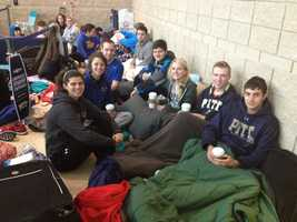 Hundreds of University of Pittsburgh students camped out in Oakland for their chance to obtain tickets to the Pitt vs Duke Men's Basketball Game.