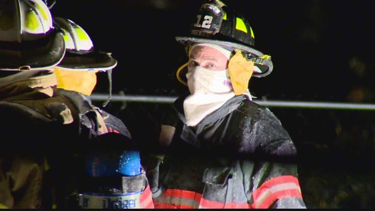 Firefighters not only braving flames, but extreme cold