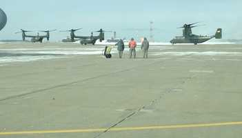 An advance team was preparing for President Barack Obama to arrive at the 171st Air Refueling Wing at Pittsburgh International Airport.