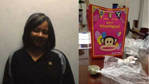 McDonald's employee Shantia Dennis is suspected of selling heroin in Happy Meal boxes at the restaurant in East Liberty, police said.