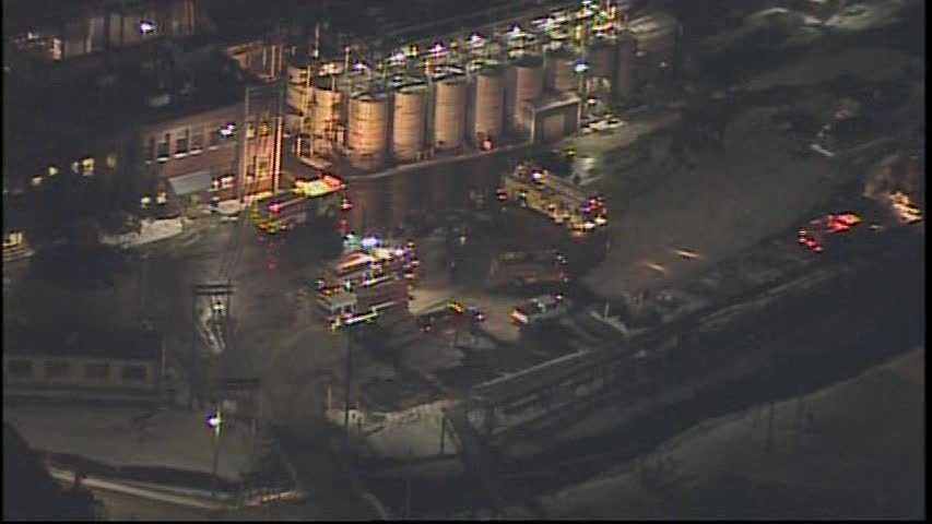 An early-morning fire reached three alarms at the Sonneborn chemical plant in Petrolia, Butler County.