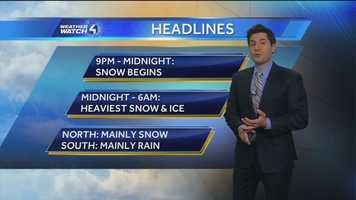 MORE WEATHER COVERAGE:Click here for the latest forecast from Weather Watch 4Click here to check traffic conditions(NOTE: may not display correctly for mobile users)Click here for school delays and/or cancellations