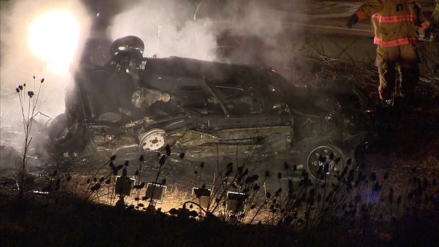 The I-279 HOV lanes were closed Tuesday morning after a fatal crash.