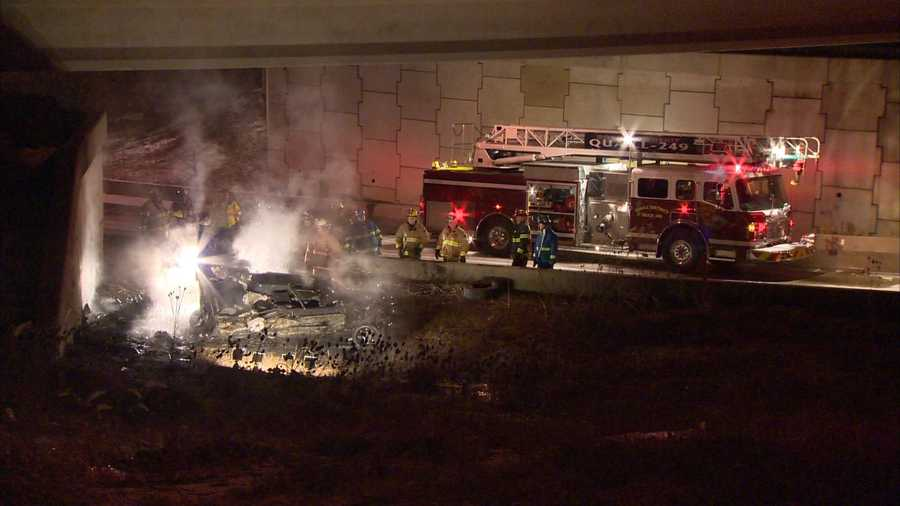 The crash happened in the HOV lanes in Ross Township.