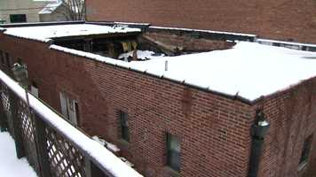 Calabrese Printing in Crafton has been condemned after the weight from heavy snowfall caused the roof to collapse Wednesday morning.