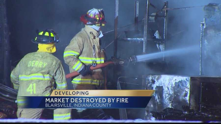 Firefighters battled a fully-involved blaze at the Cheese House on Route 22 in Blairsville.