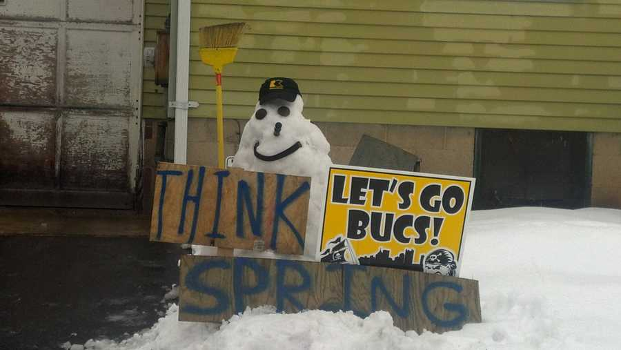 As we shiver through another chilly month in February, here's a positive message from the DeFlorio family in Greensburg!