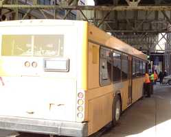 People on a Port Authority bus were taken to hospitals after the bus was involved in an accident with a truck carrying cement in downtown Pittsburgh.