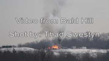 Video shot by Thad Swestyn from Bald Hill of the gas well explosion near Bobtown in Greene County PA.