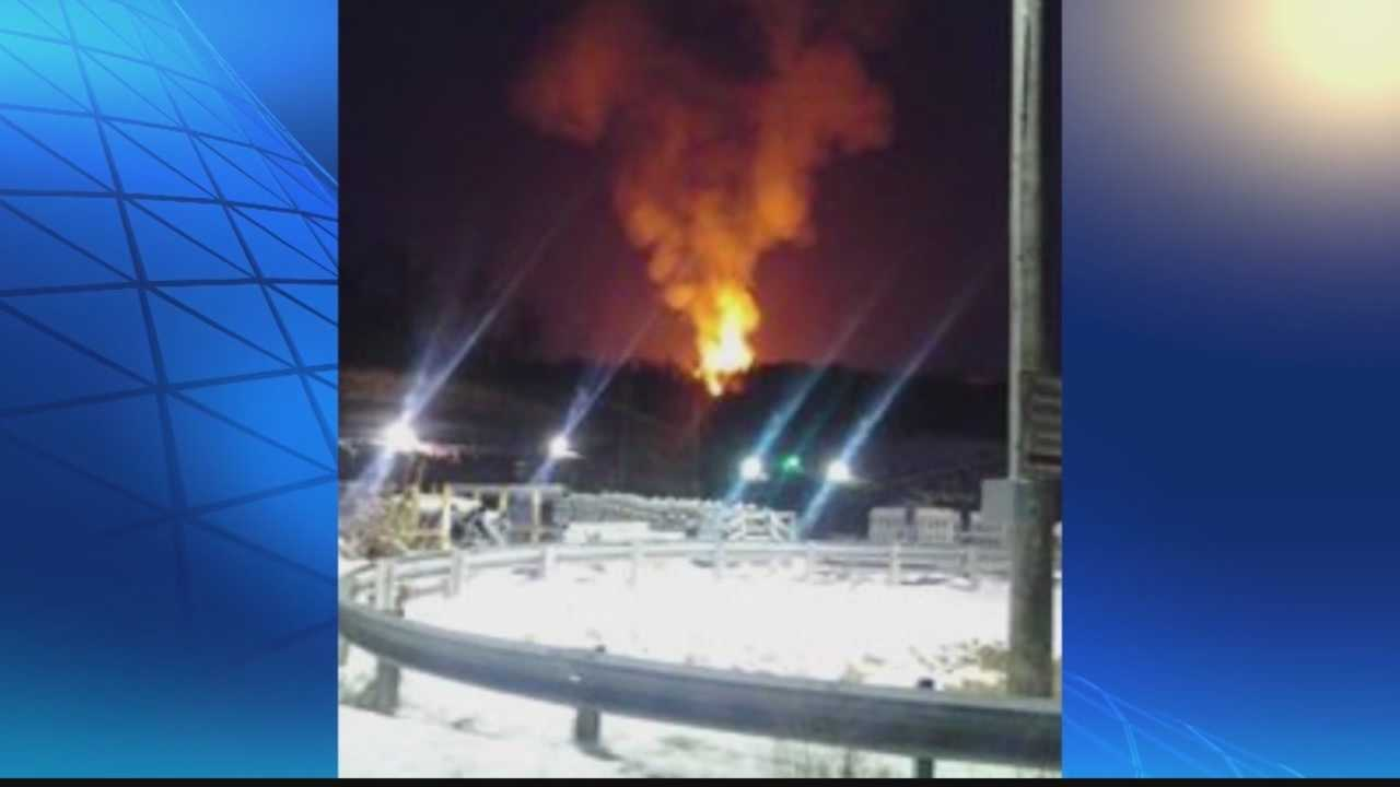img-Flames still burning at gas well explosion