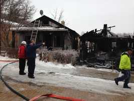 The call about the fire on Milligan Avenuecame in at about 6:15 a.m.