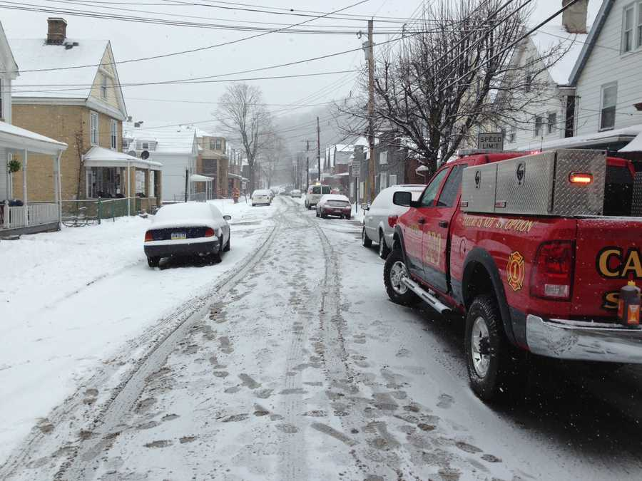A gas leak in Pitcairn was causing some evacuations Thursday morning.