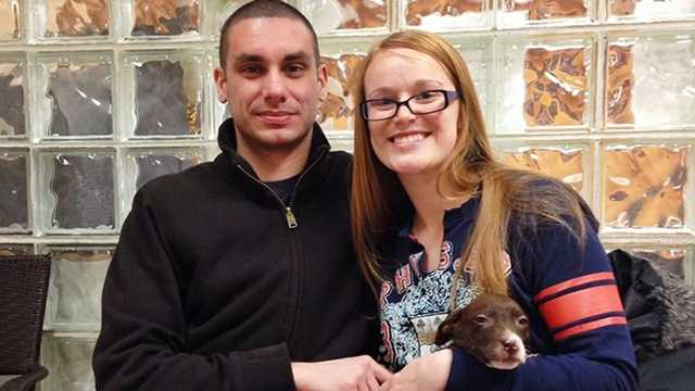 Officer recognizes woman from surveillance video, finds stolen puppy