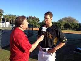 Action Sports' Guy Junker interviews pitcher Tony Watson