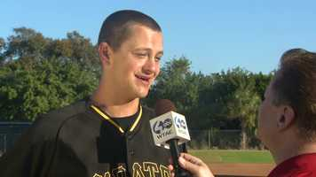 Jared Hughes is interviewed by Channel 4 Action Sports' Guy Junker