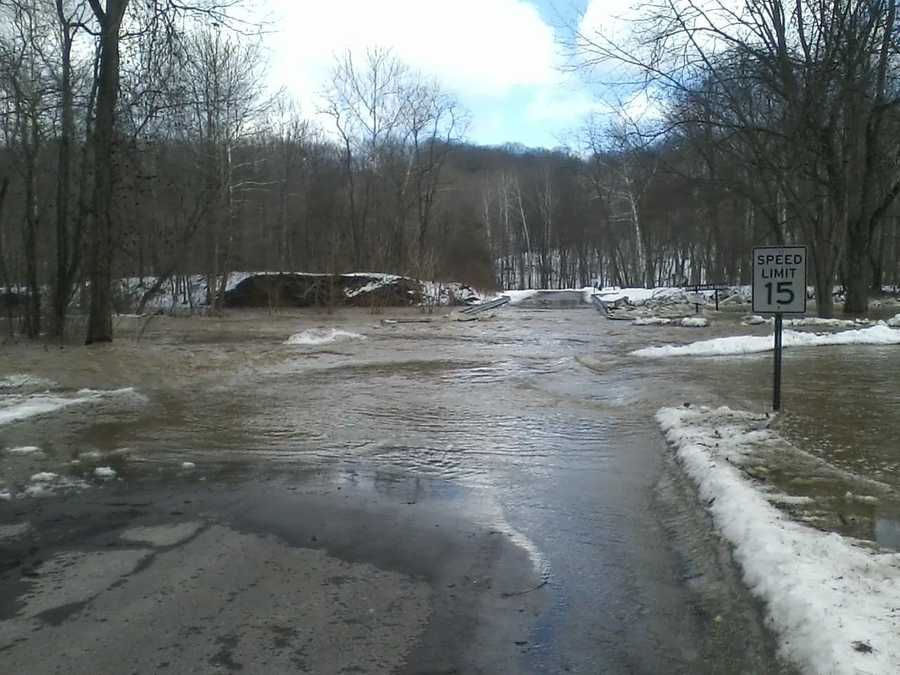 Photos sent into WTAE-TV via one of our viewers from flooding at Brush Creek Park in Beaver County.