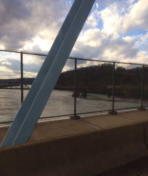This view from the bridge was shared by a WTAE viewer on u local.