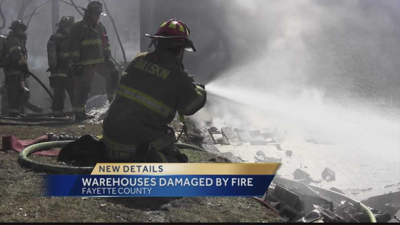 Warehouse collapses after Fayette County fire