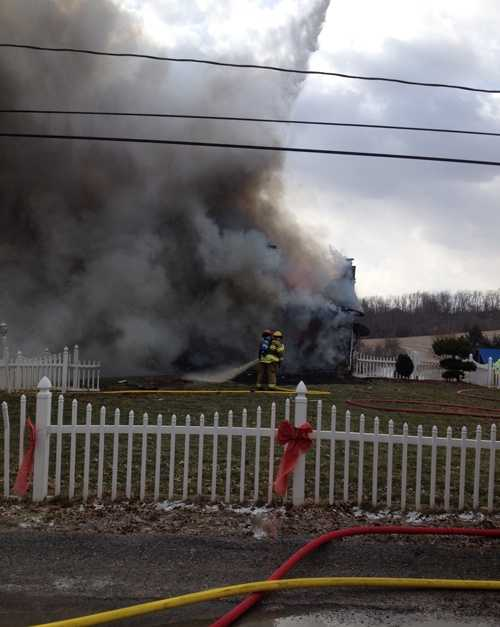 These photos of the fire were provided by an anonymous source.