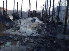 A maintenance building that houses salt, trucks, plows and other road equipment was burned to the ground in Industry, Beaver County.