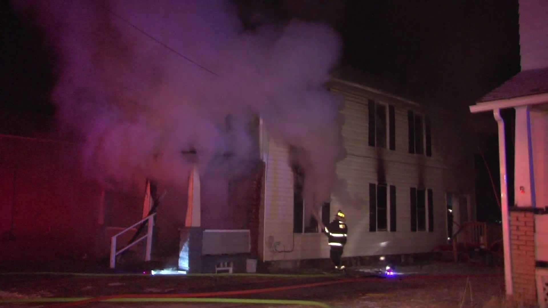 One person died in a house fire on Lathrop Street in New Castle.