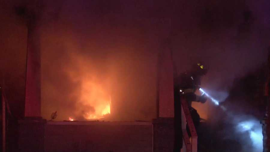 The victim has not been identified yet, and the cause of the fire is under investigation.