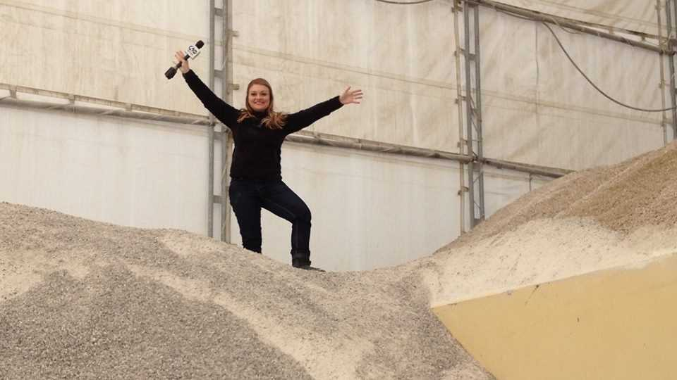 Ashlie Hardway on salt pile