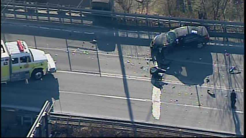 Route 30 in East Pittsburgh has reopened in both directions after a three-vehicle crash shut down the roadway.
