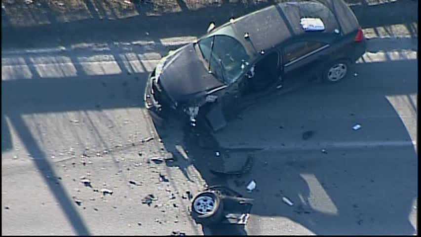 Route 30 crash (no caption)