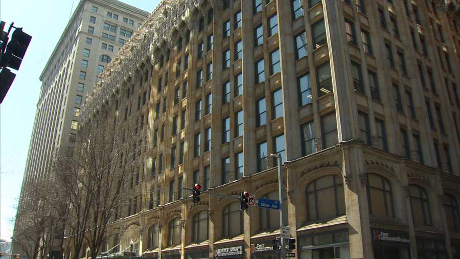 The Union Trust Building on Grant Street in downtown Pittsburgh is on the National Register of Historic Places.