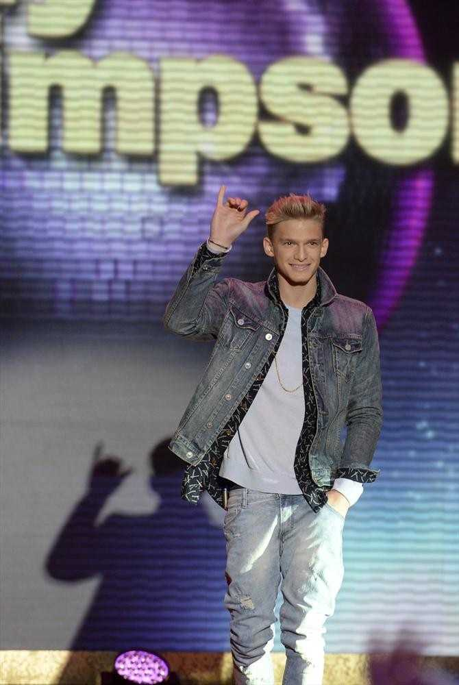 """17-year-old Australian pop singer Cody Simpson.Hehas more than 12 million combined Twitter and Facebook followers and nearly 200 million YouTube views while on tour, and will now take to the """"Dancing"""" stage.Pro Partner: Witney Carson, a first-time professional partner."""
