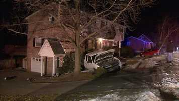 The driver of a pickup truck was taken into police custody after his vehicle ended up in the bushes outside a Murrysville home.