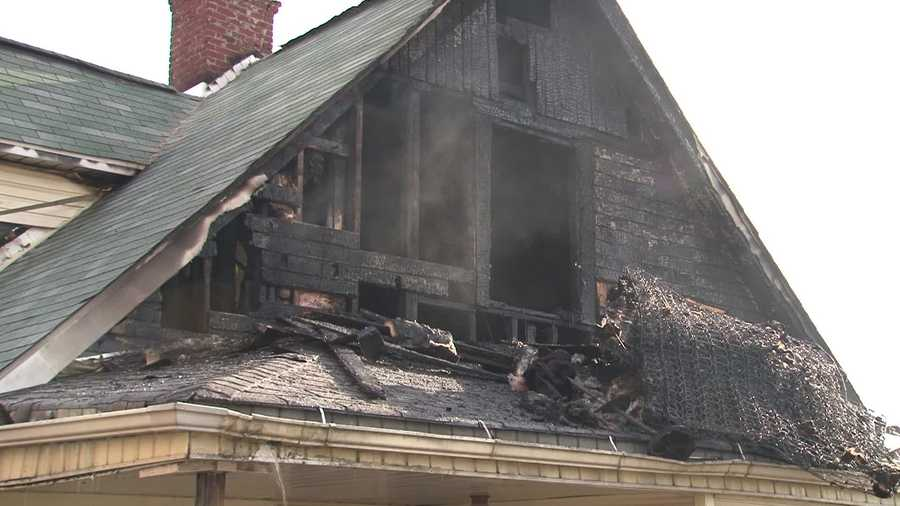 The fire started at a house at Cleveland Avenue and Lincoln Street.