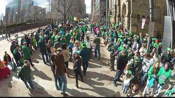 Thousands of people marched and thousands more came out to watch the annual parade through the streets of Downtown Pittsburgh.