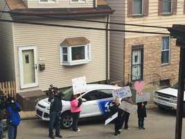 Supporters rallied Tuesday to draw attention to the case of Thor, the missing Siberian husky that belongs to a Spring Garden man who is dying of cancer. A reward for information has been raised to $900.