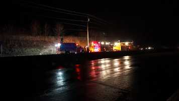A 21-year-old driver was killed late Wednesday night in a crash on Route 22 in Murrysville.