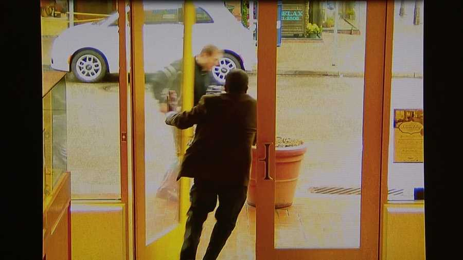 Surveillance video from the store showed Blake running out of the store and chasing the man down.