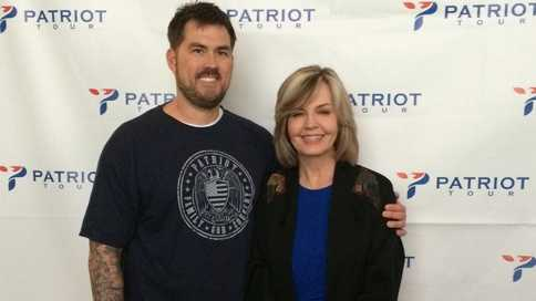 Marcus Luttrell and Pittsburgh's Action News 4 anchor Sally Wiggin