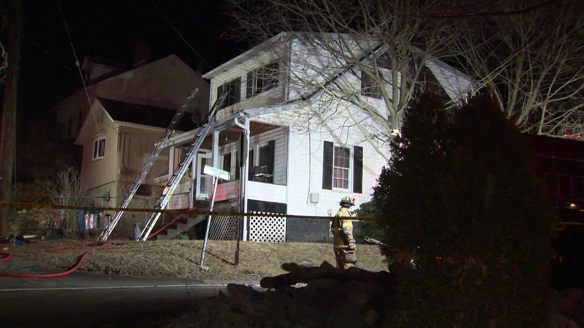 One person was taken to a hospital after a fire on Convent Avenue in Shaler Township early Monday morning.