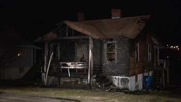 A late-night fire caused damage at a home on Dombroski Avenue in Plum.