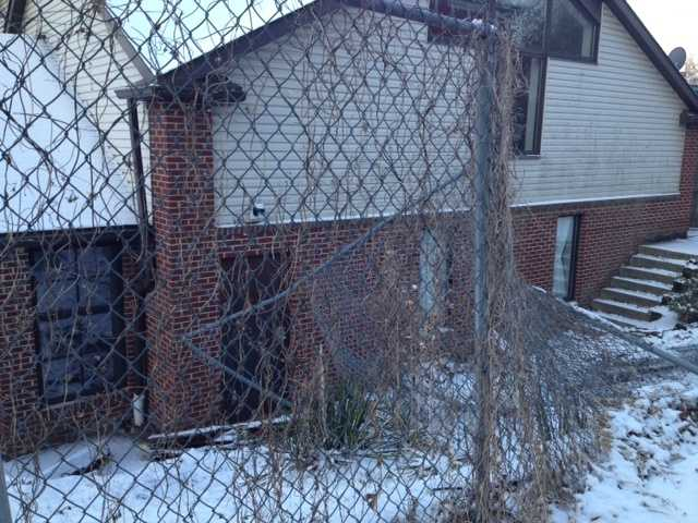A fence was damaged from the crash at the church on Kincaid Street.