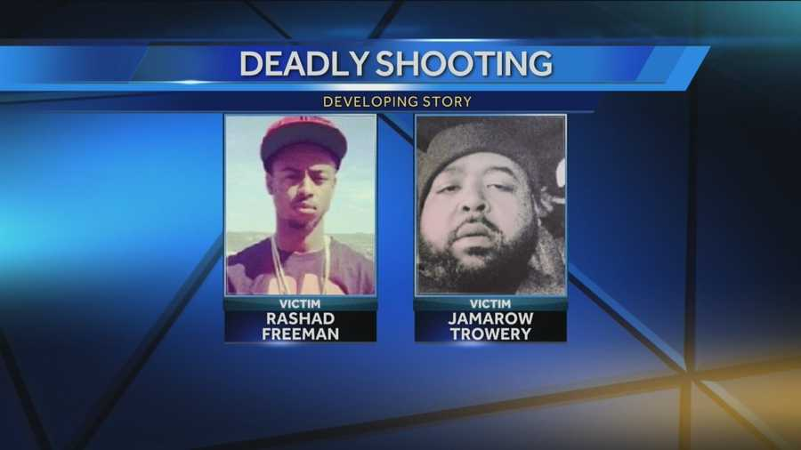 The victims were identified as Rashad Freeman, 18, of Verona, and Jamarow Trowery, 36, of Wilkinsburg, who had also recently lived in Pittsburgh and Penn Hills.