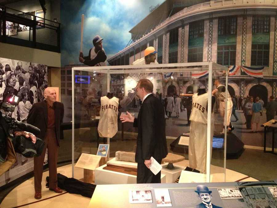 The items are on loan from the Tull Family Collection and have never been on display in Pittsburgh, except for a short stint at PNC Park last September.