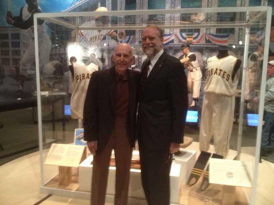 Groat was there on Wednesday morning to help unveil the temporary display of 1960 Pirates artifacts.